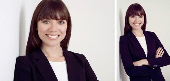 Zwei verschiedene Bewerbungsbilder aus dem Fotostudio Thomas.