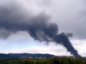 Pożar fabryki uszczelek