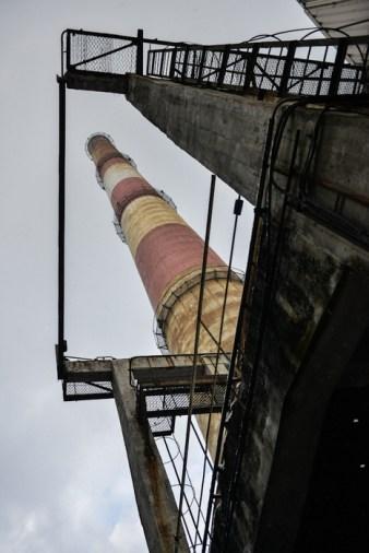 Stary komin elektrociepłowni