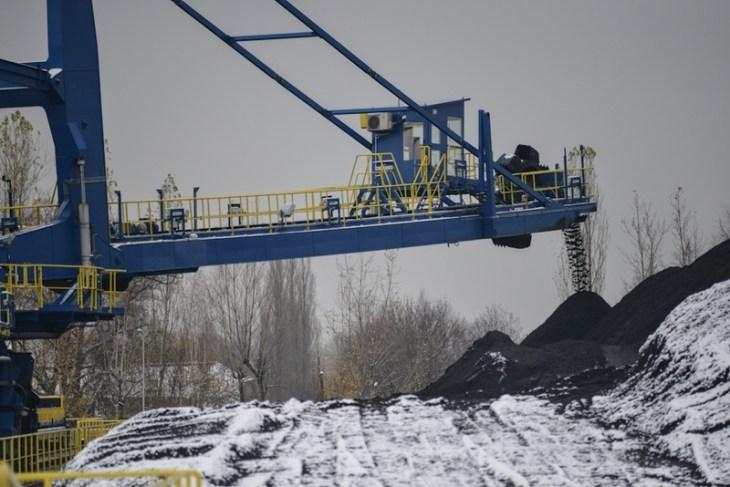 Elektrociepłownia Bielsko-Biała: usypywanie hałdy węgla