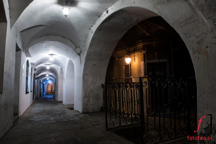 Podcienia nastarym mieście wBielsku-Białej