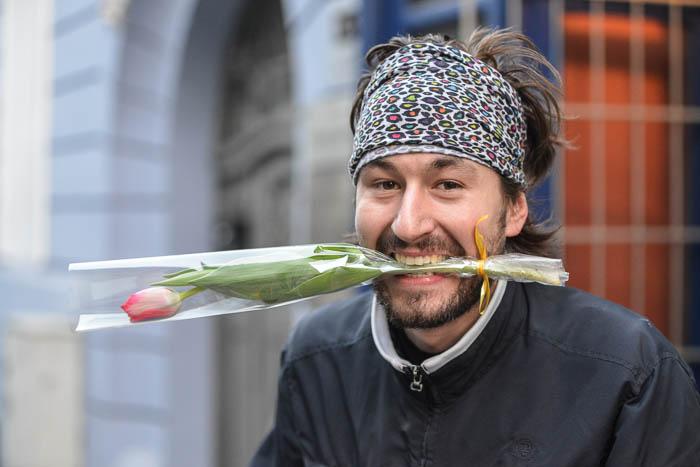 Tulipan w ustach uczestnikach AlleyCat