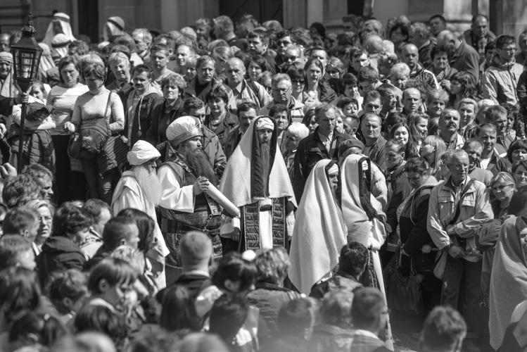 Sanhedryn oczekujacy Jezusa, Golgota