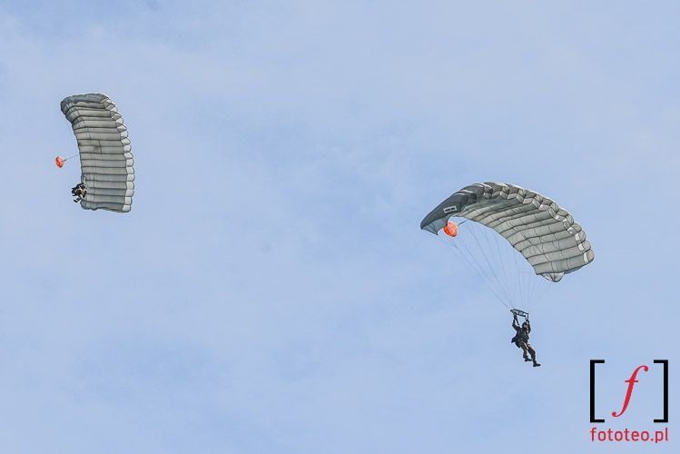 Military paratroopers in Poland