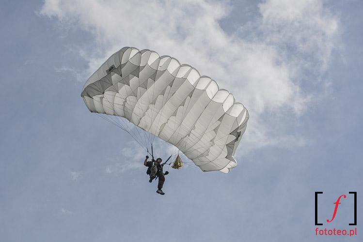Blue sky paratrooper