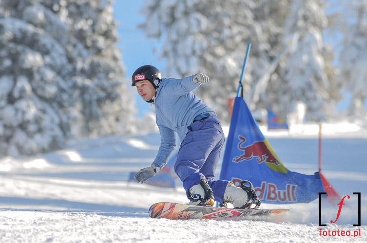 Snowboard contest in Poland