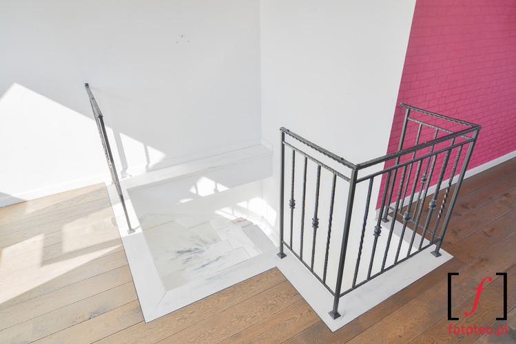 Schody mieszkania dwupoziomowego fotografia bielsko