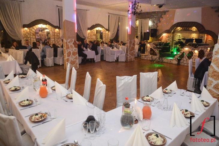 Sala weselna rozklad stolikow