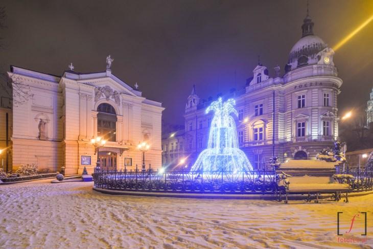 Teatr Polski ifontanna wBielsku-Białej