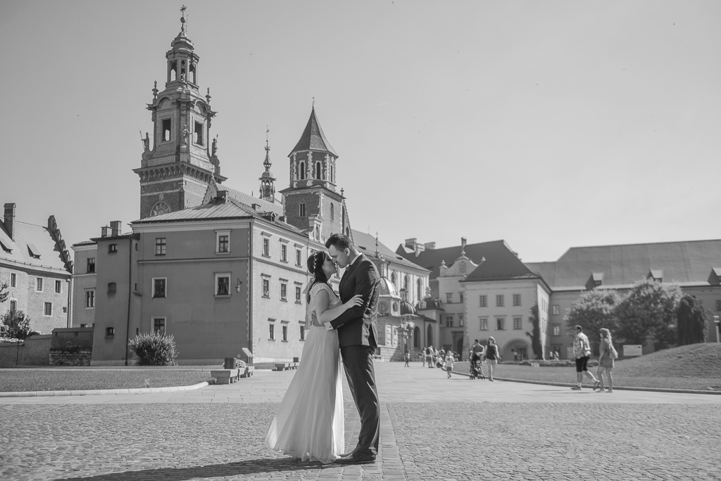 Wawel w Krakowie, fotografia ślubna