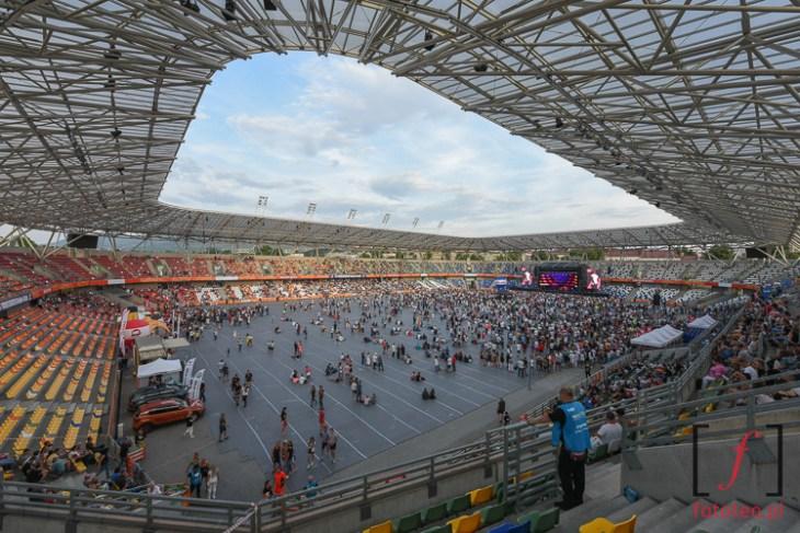 Stadion w Bielsku-Bialej podczas koncertu