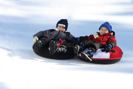 Friends!  - Tubing at Cypress Bowl