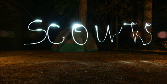 Fun with a long exposure shot and a headlamp!