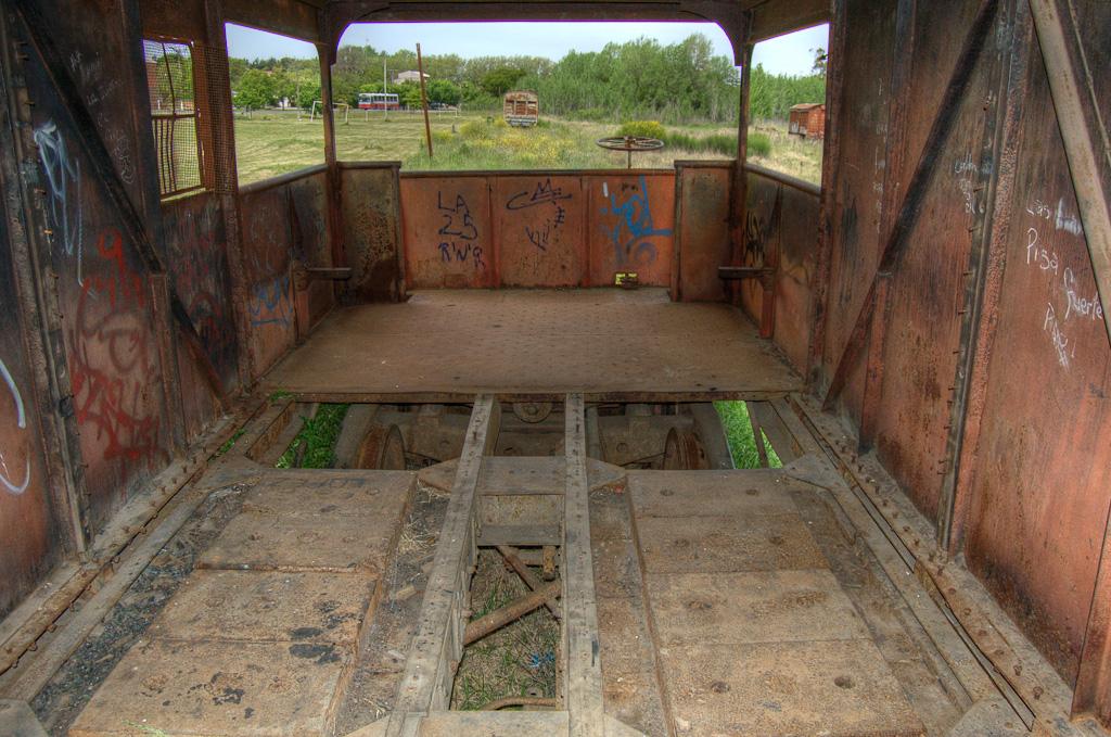 Tren abandonado HDR