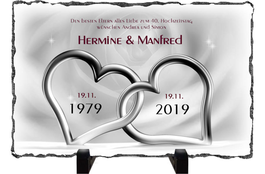 40th Wedding Anniversary Gift 40th Anniversary Ruby Etsy