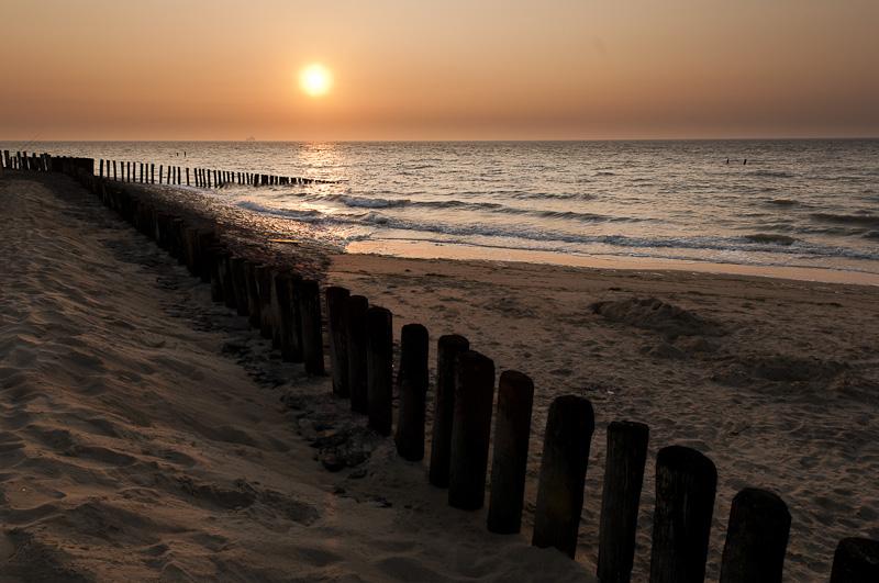 Strandhoofden, zonsondergang