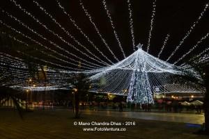 Bogotá Colombia - Christmas lights at Centro Comercial Gran Estacion