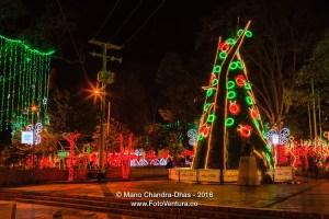 Bogotá, Colombia: a contemporary Christmas tree on Plaza Usaquen