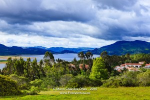 Guatavita on the Andes, Colombia: looking towards Embalse del Tominé