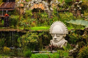 Bogota, Colombia - Garden near Cable Car Station at foot of Monserrate Peak