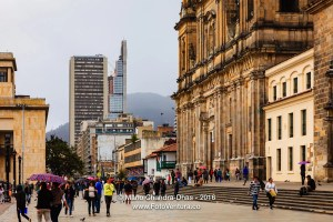 Bogota, Colombia - light rain on Plaza Bolivar