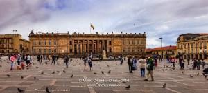 Bogota, Colombia: Parliament Buiding on Plaza Bolivar