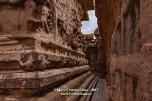 Mahabalipuram, India - 8th Century Shore Temple Interior Circumambulatory Passage