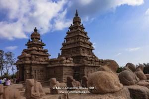 Mahabalipuram, India - Tourists at 8th Century Granite Shore Temple