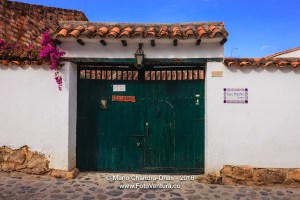 Villa de Leyva, Colombia - Colonial Architecture: Entrance to Inn