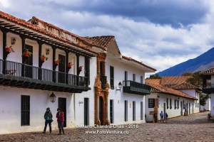 Villa de Leyva, Colombia: Northern Corner of Plaza