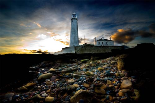 lighthouse print by tim wallace