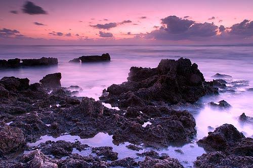 sunset on beach canvas