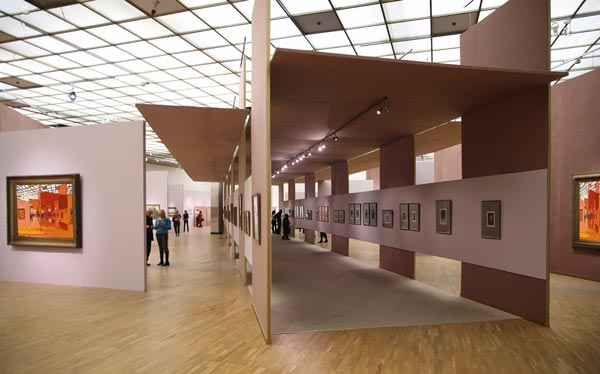 contemporary art gallery interior