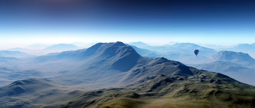 Distant Mountains panoramic wall art