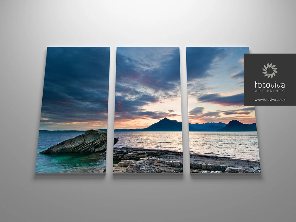 split panel triptych canvas art print