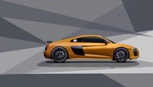 Audi R8 gold wall print