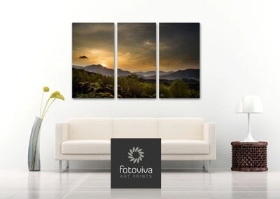 Triptych canvas wall print