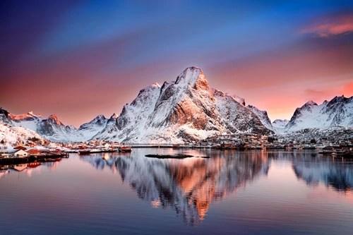 Arctic Dawn Over Reine