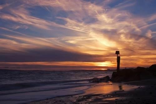 Poole Bay Golden Sunset