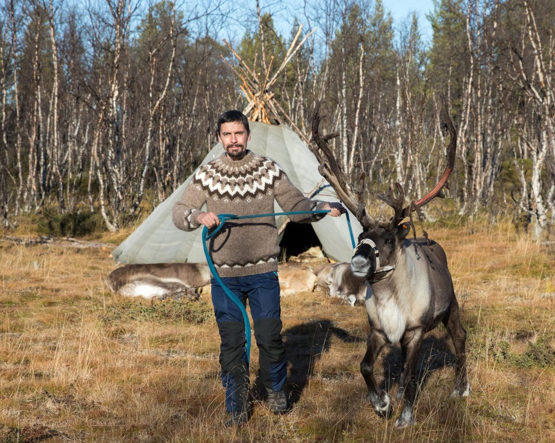 Out and About_Oliver Wright_Oliver and friendly reindeer