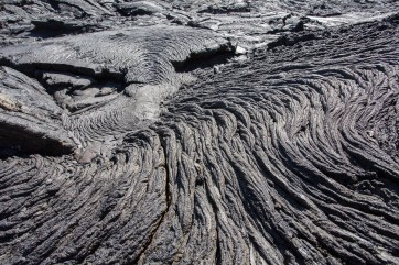 'Pahoehoe' or 'ropy' lava.