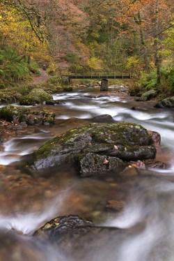 East Lyn River at Watersmeet, Exmoor, Devon, England. Autumn (November) 2013. © Adam Burton