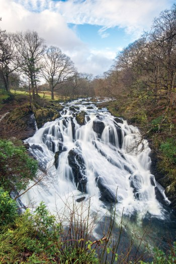 Swallow Falls in full flow at viewpoint 3. Nikon D800, 16-35 at 22mm, 1/6 sec @ f/16, ISO 100, tripod. © Simon Kitchin