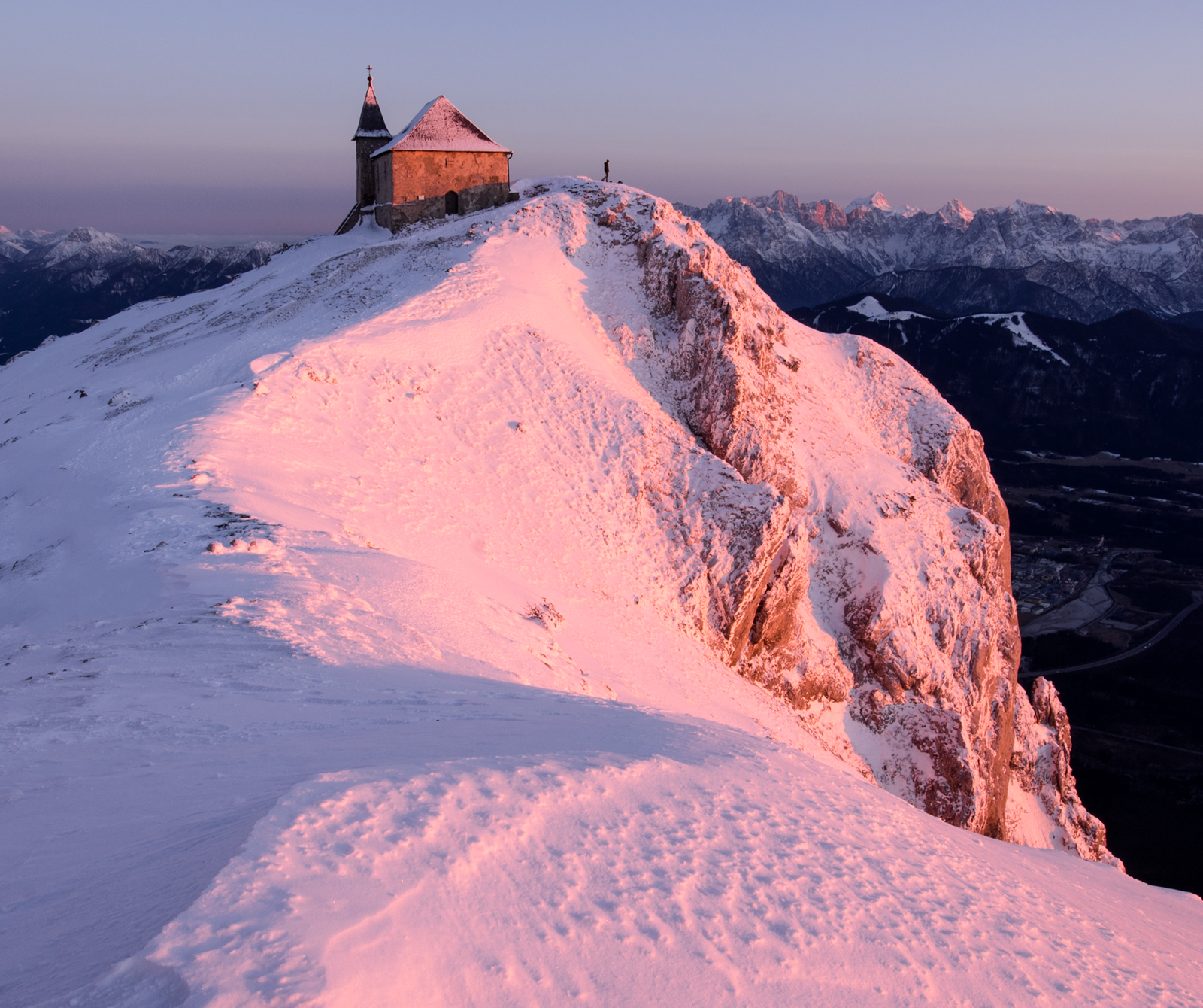 Church on the Mountain Top, Sony A7R, Canon 16-35mm f/4 at 16mm, ISO 100, 1/6 at f/16. Tripod. January. © Andrew Yu