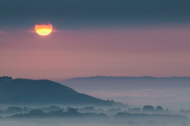 (September) UK14-763 Sunrise, Vale of Pewsey, Wiltshire