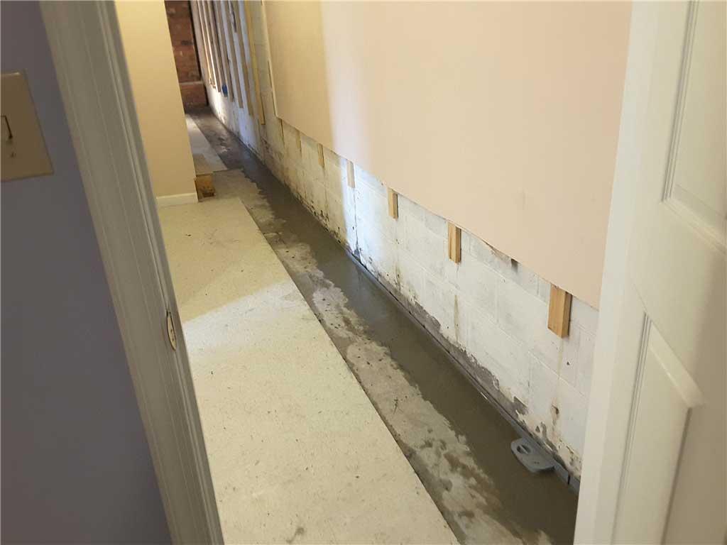 interior drain install