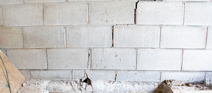 foundation crack in my wall