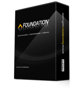 FOUNDATION     Construction Accounting Software Foundation construction management software box