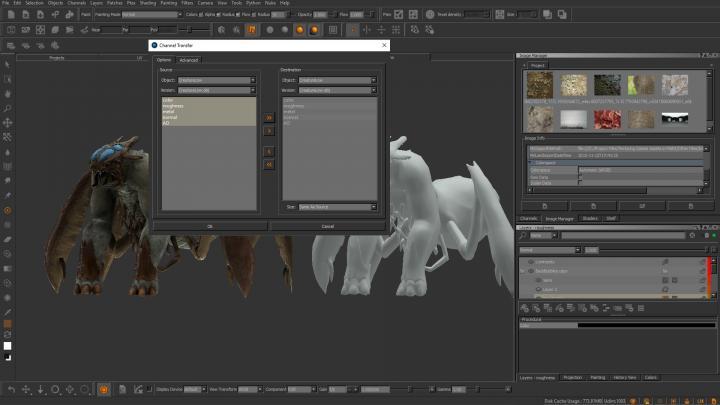 Mari PTEX and Texture Transfer image