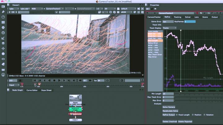 Key feature 3D Camera Tracker for Nuke X and Nuke Studio